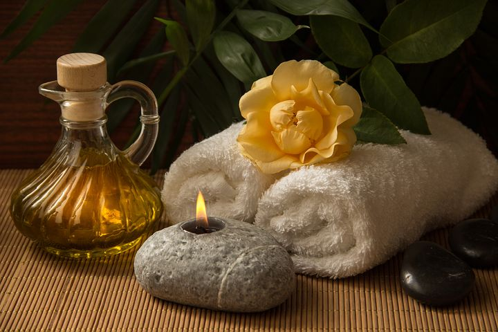 Massage products and tools for spa experience.
